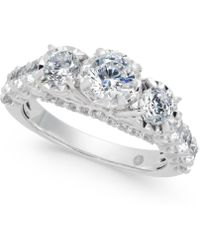 Macy's - Diamond Trinity Engagement Ring (2 Ct. T.w.) In 14k White Gold - Lyst