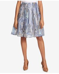 Tommy Hilfiger - Pleated Paisley-print Skirt - Lyst