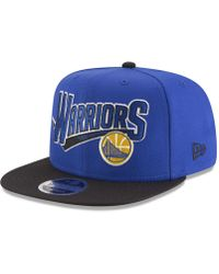 pretty nice 1fdeb 24572 KTZ Golden State Warriors Classic Script 59fifty Fitted Cap in Blue for Men  - Lyst