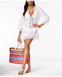 La Blanca - Cotton Crochet-trimmed Tunic - Lyst