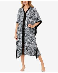 Ellen Tracy - Plus Size Wide-sleeve Printed Caftan - Lyst