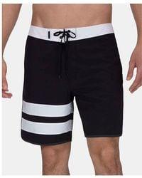 Hurley - Phantom Black Stripe Board Shorts - Lyst