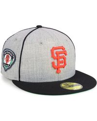 7c761cf7 KTZ New York Giants Crucial Catch 59fifty Fitted Cap in Gray for Men ...