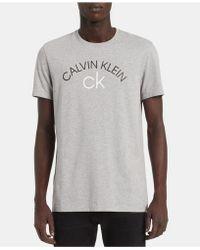 4a157d63a0cd Lyst - Calvin Klein Two-tone Logo T-shirt in Orange for Men