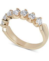 Macy's - Certified Diamond Scalloped Ring (1 Ct. T.w.) In 14k White Gold - Lyst