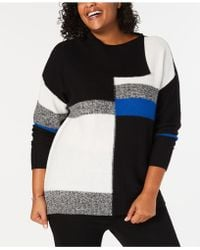 Style & Co. - Plus Size Colorblock Envelope-neck Jumper, Created For Macy's - Lyst