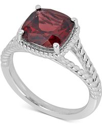 Macy's - Garnet Rope-frame Ring (4 Ct. T.w.) In Sterling Silver - Lyst