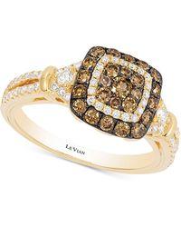 Le Vian - Diamond Square Halo Ring (7/8 Ct. T.w.) In 14k Gold - Lyst