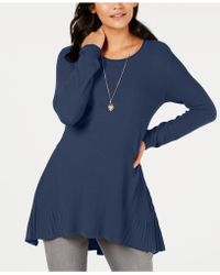 Style & Co. - Ribbed High-low Tunic Top, Created For Macy's - Lyst