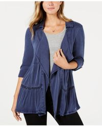 Style & Co. - Tiered Roll-tab Sleeve Jacket, Created For Macy's - Lyst