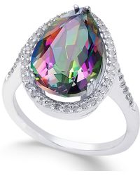Macy's - Mystic Topaz (4 Ct. T.w.) And White Topaz (1 Ct. T.w.) Ring In Sterling Silver - Lyst
