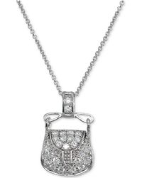 Giani Bernini - Cubic Zirconia Purse Pendant Necklace In Sterling Silver - Lyst