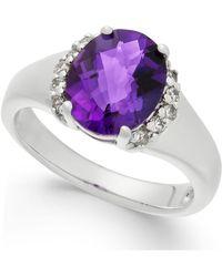 Macy's - Amethyst (2-1/2 Ct. T.w.) & Diamond (1/6 Ct. T.w.) Ring In Sterling Silver - Lyst