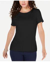 Karen Scott - Solid T-shirt, Created For Macy's - Lyst