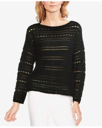 Vince Camuto - Open-stitch Boat-neck Top - Lyst