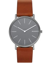 cfe1b0ad1 Ben Sherman Blue Dial Leather Strap Watch in Brown for Men - Lyst