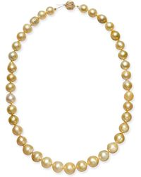 """Macy's - Baroque Golden South Sea Pearl (9mm) Strand 18"""" Collar Necklace - Lyst"""