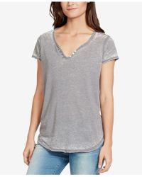 William Rast - Cooper Button-trim T-shirt - Lyst