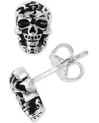 Effy Collection - Skull Stud Earrings In Sterling Silver - Lyst
