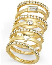 INC International Concepts - I.n.c. Gold-tone 7-pc. Set Crystal Stackable Rings, Created For Macy's - Lyst