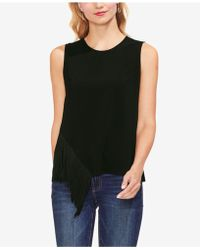 Vince Camuto - Asymmetrical-fringe Top - Lyst