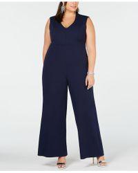 Soprano - Trendy Plus Size V-neck Jumpsuit - Lyst