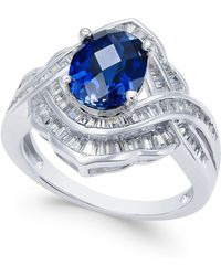 Macy's - Sapphire (2 Ct. T.w.) And Diamond (3/4 Ct. T.w.) Ring In 14k White Gold - Lyst
