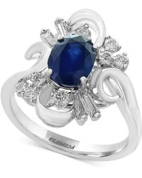 Effy Collection - Sapphire (1-3/8 Ct. T.w.) And Diamond (3/8 Ct. T.w.) Ring In 14k White Gold - Lyst