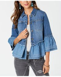 Style & Co. - Ruffled Denim Jacket, Created For Macy's - Lyst