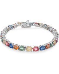 Macy's - Multi-sapphire Tennis Bracelet (20 Ct. T.w.) In Sterling Silver - Lyst