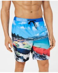 "Calvin Klein - St. Martin Photo-print Quick-dry 7"" Swim Trunks, Created For Macy's - Lyst"