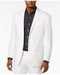 Sean John - Men's Classic-fit White Linen Jacket - Lyst