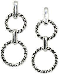 Giani Bernini - Rope Circle Drop Earrings In Sterling Silver, Created For Macy's - Lyst