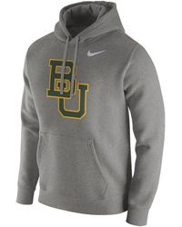 27ee8ae61100 Nike - Baylor Bears Cotton Club Fleece Hooded Sweatshirt - Lyst