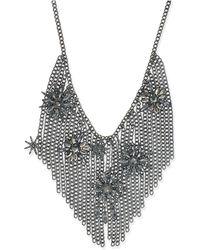 INC International Concepts - Hematite-tone Crystal Starburst Fringe Statement Necklace - Lyst