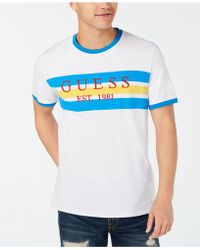 6c2d80db Guess Infamous T-shirt in White for Men - Lyst