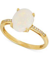 Macy's - Opal (1-5/8 Ct. T.w.) & Diamond Accent Ring In 14k Gold - Lyst