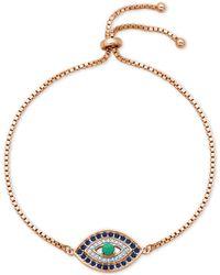 Giani Bernini - Cubic Zirconia Evil Eye Bolo Bracelet In Sterling Silver, Created For Macy's - Lyst