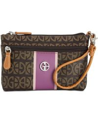 Giani Bernini - Block Signature Stripe Wristlet, Created For Macy's - Lyst