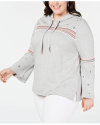 Style & Co. - Plus Size Cotton Embroidered Hoodie, Created For Macy's - Lyst