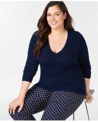 Charter Club - Plus Size Cashmere V-neck Sweater, Created For Macy's - Lyst