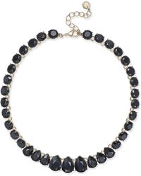Charter Club - Gold-tone Jet Stone Necklace - Lyst