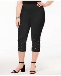INC International Concepts - I.n.c. Plus Size Grommeted Cropped Pants, Created For Macy's - Lyst