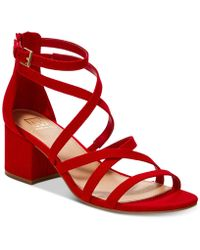 Material Girl - Inez Block-heel Sandals, Created For Macy's - Lyst