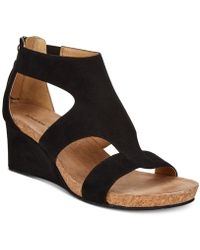 Adrienne Vittadini - Tricia Wedge Sandals - Lyst