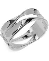 Robert Lee Morris - Silver-tone Sculptural Hinged Bangle Bracelet - Lyst