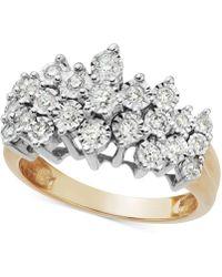 Macy's - Diamond Crown Ring In 10k Gold (1/2 Ct. T.w.) - Lyst