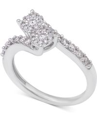 Macy's - Diamond Two Souls Engagement Ring (1/2 Ct. T.w.) In 14k White Gold - Lyst
