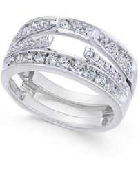 Macy's - Diamond Enhancer Ring Guard (1 Ct. T.w.) In 14k White Gold - Lyst