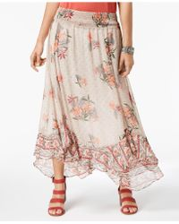 Style & Co. - Floral-print Flutter-hem Skirt, Created For Macy's - Lyst